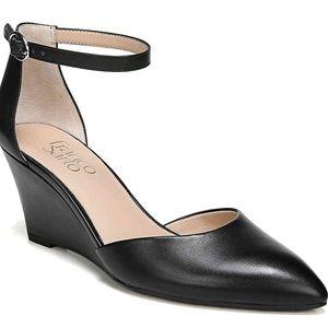 NWOT Franco Sarto Fayth Wedge Heel Pumps Black